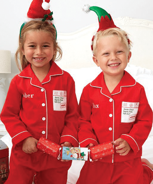 Christmas Letter To Santa Embroidered Pocket Personalised Pyjamas