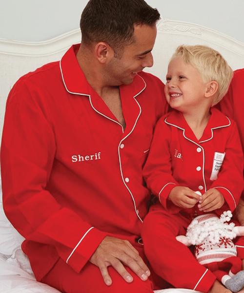 Men's Red Cotton Pyjamas