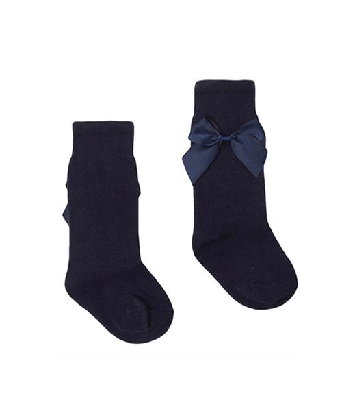 Poppy-rose-boutique--Newness-baby-bow-socks-navy