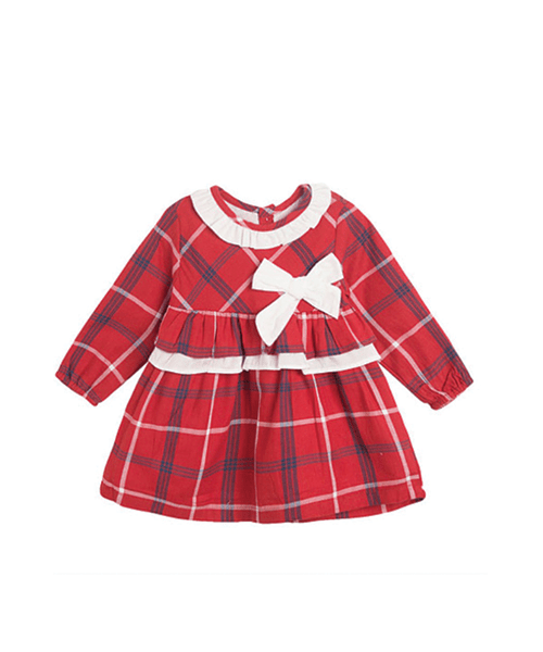 Poppy-rose-boutique-Newness-baby-girls-tartan-dress-with-white-bow